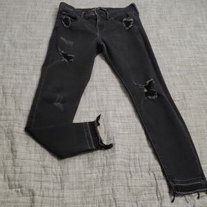Express Black Distressed Jeans